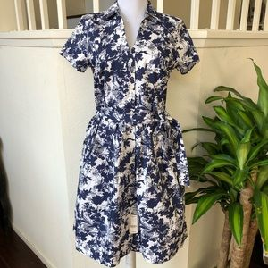 🌟NWT🌟 Brooks Brothers Navy Floral Dress Size 2